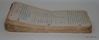 Manuscript Archive with formulae/processes for Leather Dressing, Dyeing, Tanning from the 1940s and 1950s