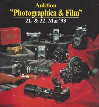 Auktion Photographica & Film 21, 22 Mai '93 / Photographica & Film 21, 22 May '93. Auction Team...