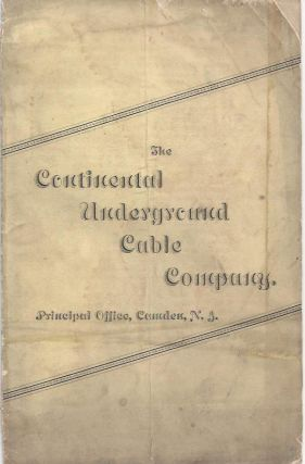 Prospectus for sales territories for the Continental Underground Cable Company's Underground...