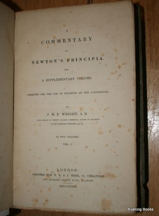 A Commentary on Newton's Principia with a Supplementary Volume Designed for the Use of Students at the Universities