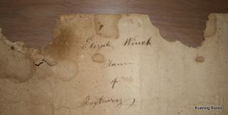 "[ Manuscript document of Roxbury Vermont ] ""Elijah Winch Plann of Roxbury [VT] circa 1860"""
