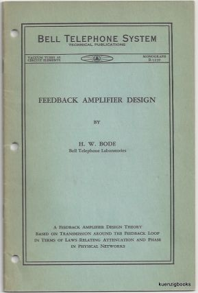 Relations Between Attenuation and Phase in Feedback Amplifier Design. Henrik W. Bode.
