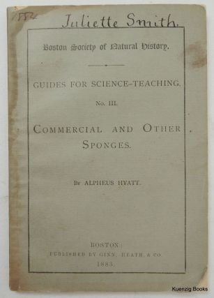Guides for Science - Teaching No III ... Commercial and Other Sponges. Alpheus Hyatt