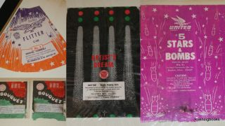 ARCHIVE OF FIREWORKS LABELS from India, China, Macau, Japan, and America