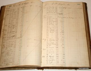 Manuscript ledger of a [ Rochelle Illinois? ] drugstore, possibly Clark & Dana's of Rochelle, Illinois with entries from 1864-1872