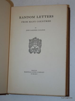 Random Letters from Many Countries. John Gardner Coolidge