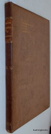 The British Journal of Radiology (Rontgen [ Roentgen ] Society Section) Volume XX, 1924. Major G....