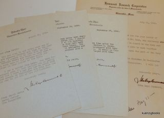 Small archive of material related to John Hays Hammond Jr. including signed letters and a...