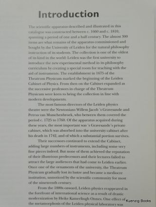 The Leiden Cabinet of Physics - A Descriptive Catalogue