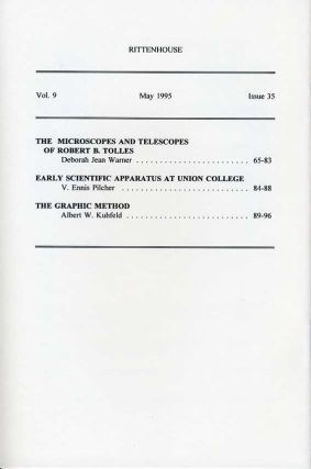 Rittenhouse Vol. 9 No. 3 (Issue 35): Journal of the American Scientific Instrument Enterprise May 1995