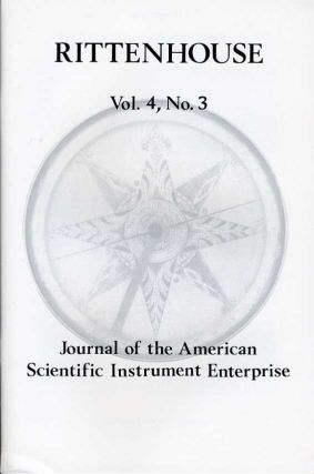 Rittenhouse Vol. 4 No. 3 (Issue 15): Journal of the American Scientific Instrument Enterprise May 1990