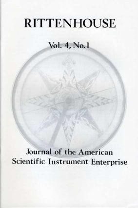 Rittenhouse Vol. 4 No. 1 (Issue 13): Journal of the American Scientific Instrument Enterprise Nov 1989