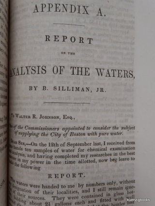 Report of the Commissioners appointed by authority of the City Council, to examine the sources from which a supply of pure water may be obtained for the City of Boston.