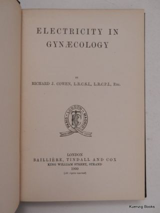 Electricity in Gynaecology [ Gynecology ]