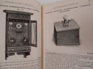 Illustrated Catalog of Electro-therapeutical Apparatus ... Thirtieth Edition. McIntosh Battery,...