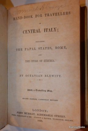 Hand-Book for Travellers in Central Italy ; including The Papal States, Rome and The Cities of Etruria [ handbook ]