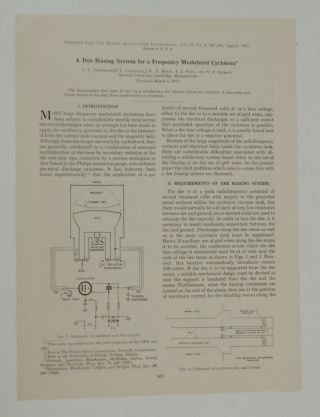 A Dee Biasing System for a Frequency Modulated Cyclotron. L. L. Davenport, L. Mack Lavetelli, N....