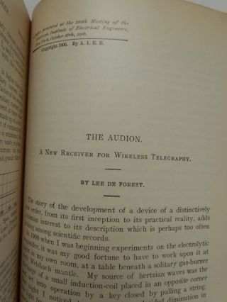 The Audion: A New Receiver for Wireless Telegraphy