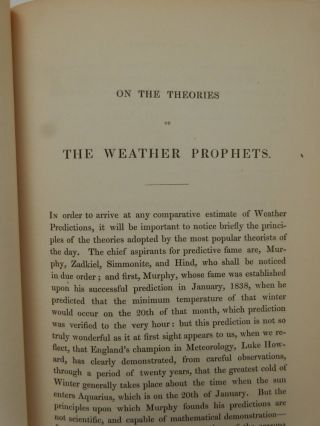 On the Theories of The Weather Prophets and the Comparative Success of their Predictions