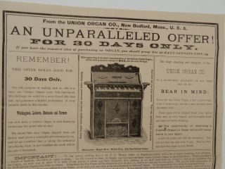 AN UNPARALLELED OFFER! | FOR 30 DAYS ONLY | If you have the remotest idea of purchasing an ORGAN, you should grasp this RARE OPPORTUNITY [caption title and text]
