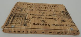 Town and Country Collection Simply Charming for the City Charmingly Simple for the Country by Barnard & Simonds Co., Inc. [ cover title ]