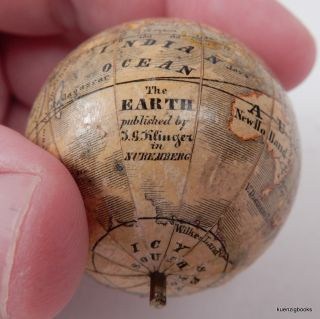 Miniature Klinger Nuremberg globe in original case