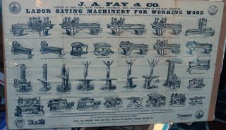 Labor Saving Machinery for Working Wood. J. A. Fay, Co