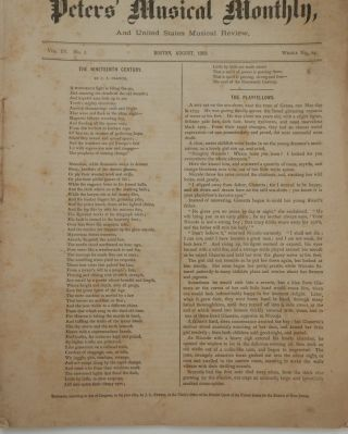 Peters' Musical Monthly, and United States Musical Review for August 1869. Vol IV, No 2. ...