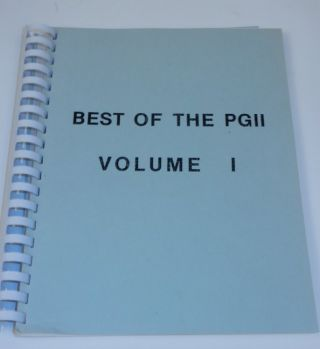 Best of the PGII Volume I
