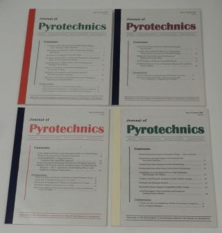 Journal of Pyrotechnics - Issues 1-22 complete including the Issue 11 correction