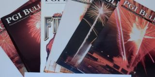 Pyrotechnics Guild Bulletin Issues 118,120-127, 129-132, 135-137 [ PGI ]. Mark Wray, publications VP