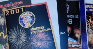 Brothers Pyrotechnics, Inc. Catalogs for 2000, 2001, 2002, 2003 (regular and value), 2004, 2006,...