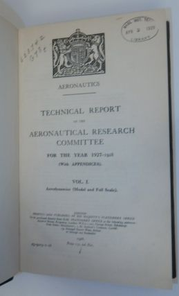 Aeronautics: Technical Report of the Aeronautical Research Committee for 1927-1928 : Vol. 1, Aerodynamics (Model and Full Scale)