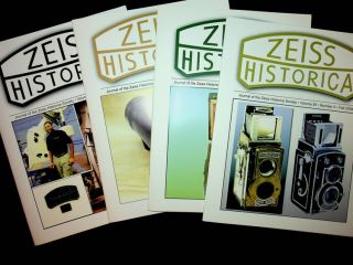 Journal of the Zeiss Historica Society, complete run from Volume 3, No 1 Spring 1981 through Volume 28, No 1, Spring 2006, a total of 51 issues