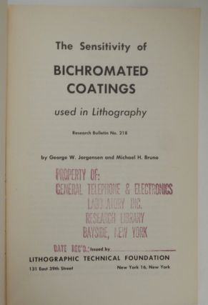 The Sensitivity of BiChromated Coatings used in Lithography