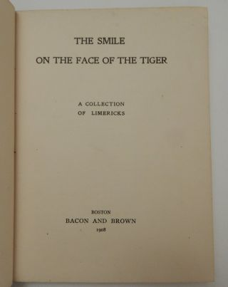 The Smile on the Face of the Tiger : A Collection of Limericks