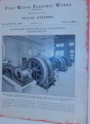 Wood Systems. Bulletin No.1080. Multiphase Revolving-Field Generators Engine-Driven April 1,...