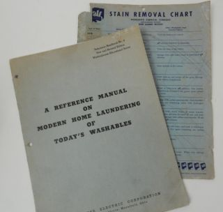 A Reference Manual on Modern Home Laundering of Today's Washables ... Reference Handbook No. 4 New and Revised Edition. Westinghouse Electric Corporation Home Economics Institute.