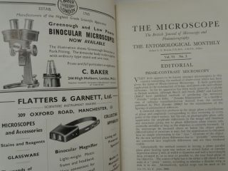 The Microscope : The Brotish Journal of Microscopy and Photomicrography. The Entomological Monthly, Vol VI, No. 2, June 1946