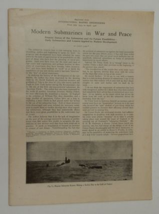 Modern Submarines in War and Peace. Simon Lake.