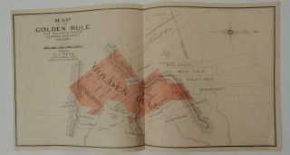 Map of the Golden Rule and Adjacent Mines, Eureka District Nevada. T. J. Read.