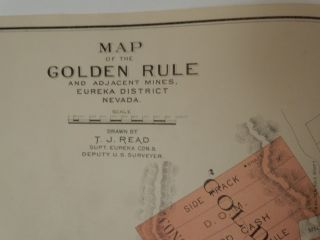 Map of the Golden Rule and Adjacent Mines, Eureka District Nevada