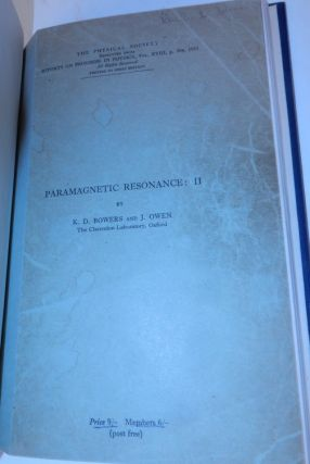 Paramagnetic Resonance : II. K. D. Bowers, J. Owen