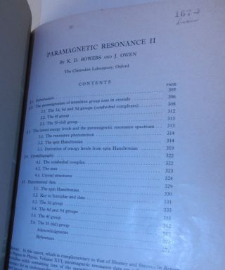 Paramagnetic Resonance : II