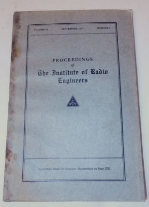 """The Origins and Development of Radiotelephony"" IN Proceedings of the Institute of Radio..."