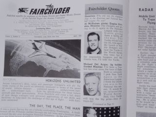 The Fairchilder ... published monthly for employees of the Engine Division and Guided Missiles Division of the Fairchild Engine and Airplane Corporation ... Volume 3, Number 8 April 1954