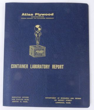 Atlas Plywood Corporation CONTAINER LABORATORY REPORT. Atlas Plywood Corporation