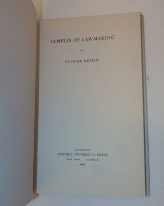 Samples of Lawmaking