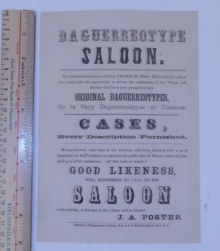Daguerreotype Saloon. The Subscriber having located his SALOON IN THIS VILLAGE for a short time...