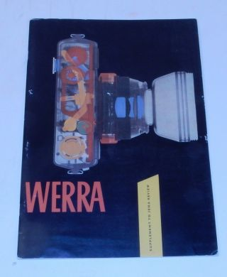Werra Supplement to Jena Review. Zeiss Historica Society